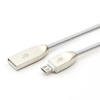 Tb kabel usb-micro usb 1m metalowy srebrny