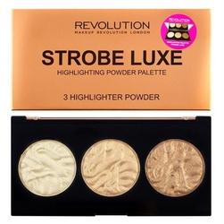 Makeup revolution strobe luxe palette zestaw rozświetlaczy