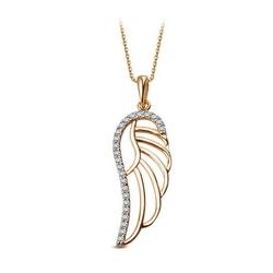 Staviori wisiorek skrzydło anioła. cyrkonia. żółte, białe złoto 0,333. wysokość 28 mm