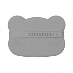 Silikonowe pudełko na przekąski we might be tiny - szary miś