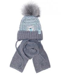Komplet ajs 38-416 czapka+szalik