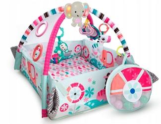 Bright starts plac zabaw słonik pink + piłeczki+ puzzle