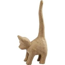 Uroczy kotek do dekoracji z papier-mache 12x28 cm
