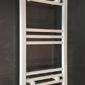 Grzejnik łazienkowy eco york - wykończenie proste, 400x800, biały