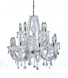 Marietherese lampa wisząca 12 chrom kryształ