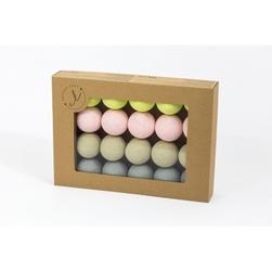 Świecące kule cotton balls limonkove
