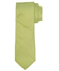 Limonkowy jedwabny krawat profuomo