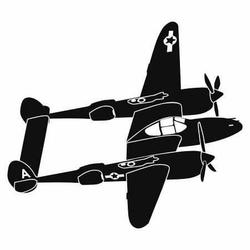 samolot 2 naklejka