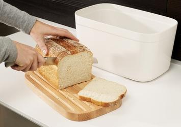 Pojemnik na chleb z bambusową deską do krojenia joseph joseph biały 81097
