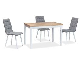 Nierozkładany stół jadalniany na białych nogach adam 100x60 cm