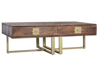 Drewniana ława madras w stylu industrialnym