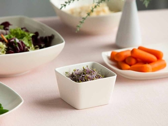 Salaterka kwadratowa porcelana karolina hiruni 9,5 cm
