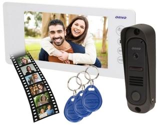 Wideodomofon or-vid-js-1053w pamięć + breloki arcus rfid 7 orno biały - szybka dostawa lub możliwość odbioru w 39 miastach