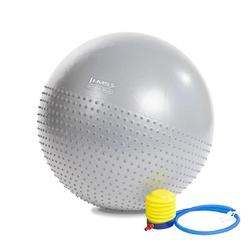 Piłka gimnastyczna masująca yb03 65 cm jasnoszara - hms - jasnoszary