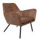 Fotel lounge bon brązowy
