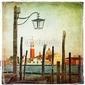 Obraz na płótnie canvas czteroczęściowy tetraptyk venetian pictures - artwork in retro style