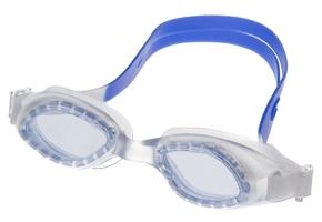 Okulary do pływania vivo junior b-0117 biało-niebieskie