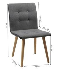 Krzesło freda skandynawskie szare