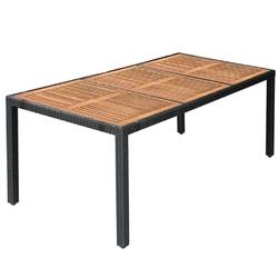 Komplet ogrodowy stół + 8 krzeseł emir polirattan czarny