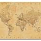 World map vintage style - obraz na płótnie