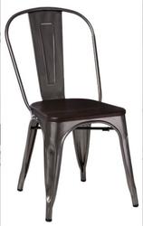 Krzesło paris wood sosna szczotkowana - metaliczny