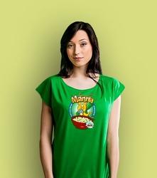 Manna t-shirt damski zielony xs