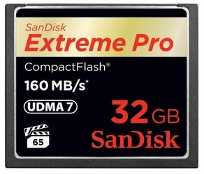 Sandisk extreme pro compactflash 32gb 160mbs udma 7