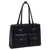 Skórzana torba damska na laptopa 15,4 mcklein alexis 96545 czarna - czarny