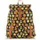 Pojemny młodzieżowy plecak blogerski w stylu vintage w emotikony