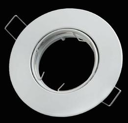 Oprawa okrągła ruchoma, odlew - biały mat