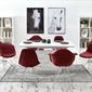 Fotel tunis  bordowy welur nowoczesny