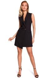 Czarna mini sukienka żakietowa