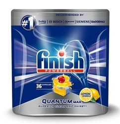 Finish  quantum max , kapsułki do zmywarki a36 lemon