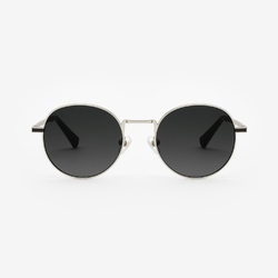 Okulary hawkers silver black gradient moma