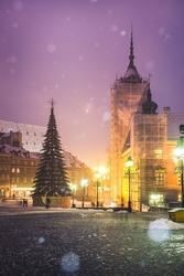 Warszawa zamek - plakat premium wymiar do wyboru: 29,7x42 cm