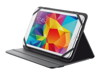 Trust primo folio case with stand for 7-8 tablets - black