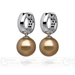 Fc kolczyki z perłą wiszące 3061021008 pm 10 kolor złoty