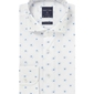 Biała koszula profuomo typu oxford w kwiaty 40