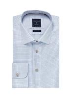 Elegancka błękitna koszula męska profuomo originale w drobną krateczkę 45