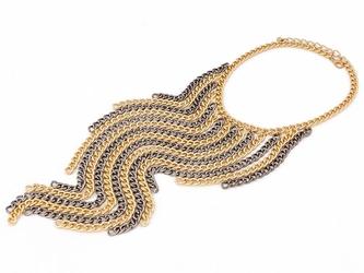 Naszyjnik gold  metalic