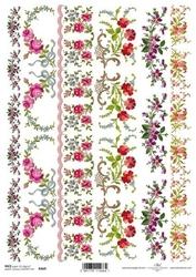 Papier ryżowy itd a4 r469 kwiaty listki