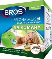 Bros, Zielona moc Elektro+ na komary, urządzenie  + 10 wkładów