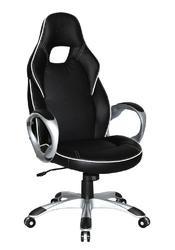 Fotel obrotowy deluxe czarny biały