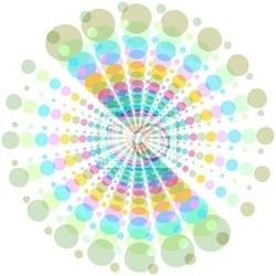Naklejka stylowe tło z kolorowych kropek