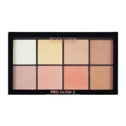 Makeup revolution pro glow 2 palette zestaw rozświetlaczy 2.5g