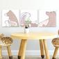 Zestaw obrazów dziecięcych - forest friends , wymiary - 20cm x 20cm 3 sztuki