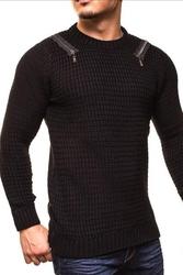 Męski sweter crsm - czarny 9507-1