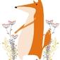 Pan lis - plakat wymiar do wyboru: 20x30 cm
