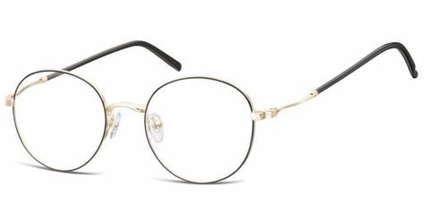 Lenonki okrągłe oprawki optyczne 927c czarno-złote