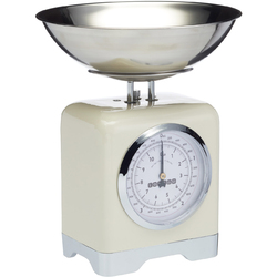 Waga Retro do kuchni - 5 kg Lovello mechaniczna Kitchen Craft kremowa LOVSCALESCRE